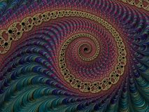 Multi colored dark abstract textured spiral fractal, 3d render f. Or poster, design and entertainment. Background for website and flyer vector illustration