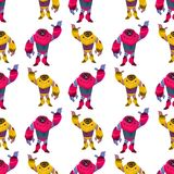 Multi-colored Design New Generation Robot Pattern. stock illustration