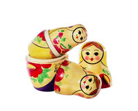 Multi-colored dolls matreshka Stock Photography