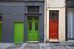 Multi-colored door Stock Photography
