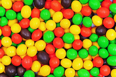 Multi colored dragee. Royalty Free Stock Images