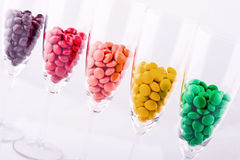 Multi-colored dragee Royalty Free Stock Image