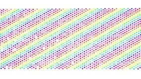 Multi-colored driedimensionele cijfers van kubussen vliegen langzaam op een wit 3d geef terug vector illustratie