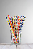 Multi-Colored Drinking Straws Stock Photography