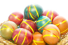Multi-colored Easter eggs Royalty Free Stock Images