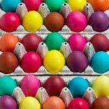 Multi-colored Easter eggs. Stock Photo