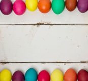 Multi-colored Easter eggs. Stock Images