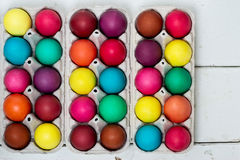 Multi-colored Easter eggs. Royalty Free Stock Photography