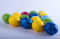 Multi-colored eieren van Pasen Royalty-vrije Stock Afbeeldingen