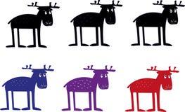 Ridiculous elks Royalty Free Stock Photos
