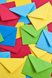 Multi colored envelopes and letters Royalty Free Stock Image