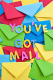 Multi colored envelopes and letters Stock Photography