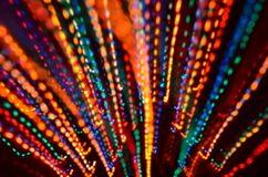 Multi-colored explosion of lights. royalty free stock photography