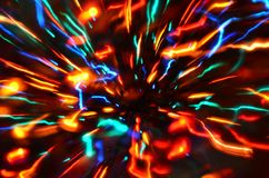 Multi-colored explosion of lights. royalty free stock photo