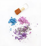 Multi colored eyeshadow Stock Photo