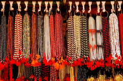 Multi colored fashionable beads Royalty Free Stock Photography