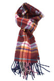 Multi-colored fashionable woolen scarf Royalty Free Stock Images
