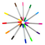 Multi-colored felt-tip pens Royalty Free Stock Images