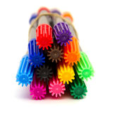 Multi-colored felt-tip pens Stock Photos