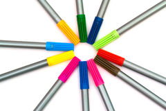 Multi-colored felt-tip pens Royalty Free Stock Photo