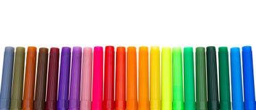 Multi colored felt-tip pens Stock Photo