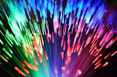 Multi-colored fibre optic rainbow 2 Royalty Free Stock Photos