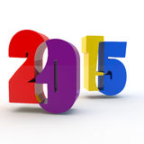 Multi-colored figures. Of new year 2015 Royalty Free Stock Photography