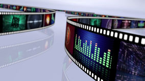 Multi colored film reel Royalty Free Stock Photos