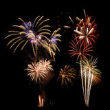 Multi-colored firework display Royalty Free Stock Photo