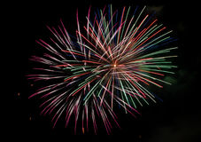 Multi colored fireworks Stock Photo