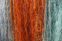 Multi colored fishing net Stock Photo