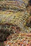 Multi colored  Fishing Nets in a pile. A pile of Multi colored fishing nets Stock Photography