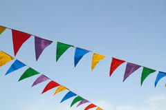 Multi colored flags Royalty Free Stock Images