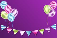 Multi-colored flags and balloons. Multi-colored flags and helium balloons. Vector illustration EPS10 Stock Images