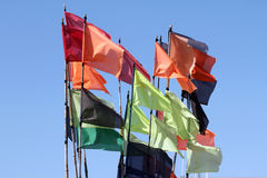 Multi-colored flags Royalty Free Stock Photography