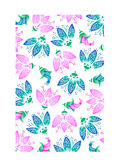 Multi Colored Floral Background. Blue and pink floral background or textile pattern royalty free illustration