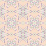 Multi colored floral seamless pattern. Beige background with violet and blue flower elements. For wallpapers, textile and fabrics Stock Photos