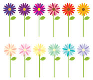 Multi-colored Flowers stock illustration