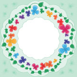 Multi-colored flowers framework Royalty Free Stock Image