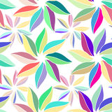 Multi-colored flowers with leaves. on white background. Pattern vivid wrapping paper from the multi-colored leaves Stock Photography
