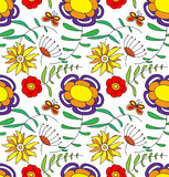 Multi Colored flowers, on a white background Stock Image