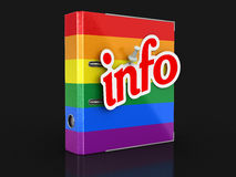 Multi Colored Folder and Info Royalty Free Stock Image