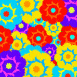 Multi-colored furry flowers. Exotic abstract colors Stock Images