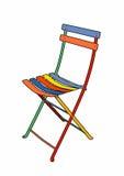 Multi-colored garden chair. Vector illustration of a garden furniture Stock Illustration