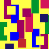Multi-colored geometrical abstraction Royalty Free Stock Photography