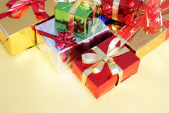 Multi-colored Gift Boxes Royalty Free Stock Photo