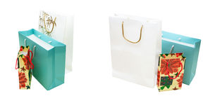 Multi-colored gift paper packets Royalty Free Stock Photography