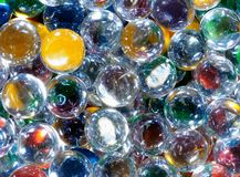 Multi-colored Glass Balls Royalty Free Stock Photography