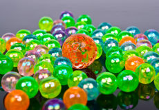 Multi-colored glass balls Royalty Free Stock Photos
