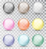 Multi-colored glass balls. Vector illustration. Stock Images